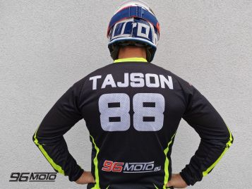 96MOTO T-shirt / Motorcycle blouse PERSONALIZED Fluo