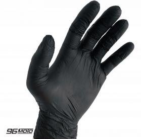 Pink. L Powder-free nitrile gloves 100pcs. Black gloves